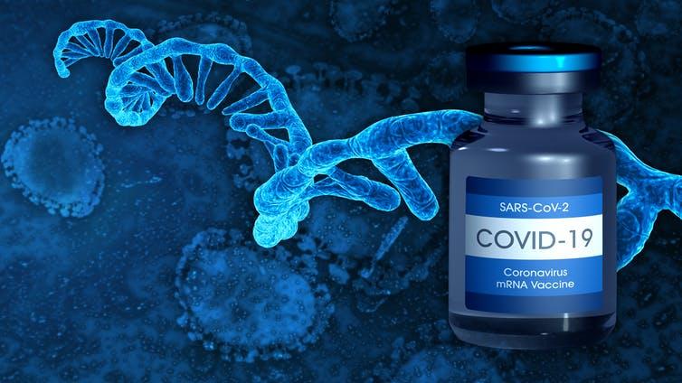 Fiole de vaccin à ARNm